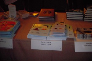 bait book on table 2009 SCBWI